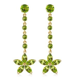 GOLD CHANDELIERS EARRINGS WITH PERIDOTS